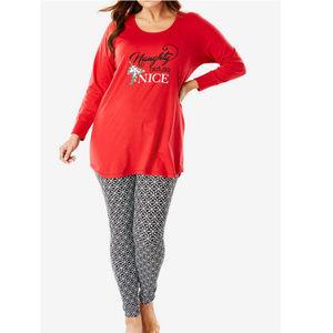 Woman Within Xmas Pajama Set 30/32 Leggings #13E1